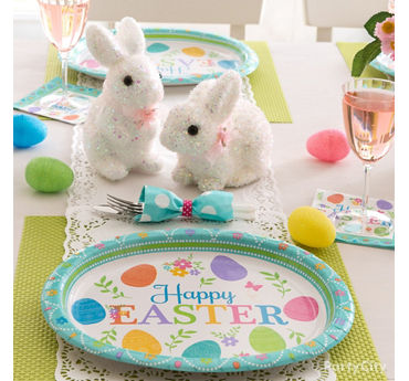 Playful Bunnies Easter Tablescape Idea
