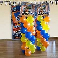 Hot Wheels Balloon Tower DIY