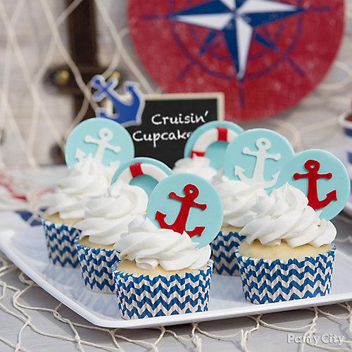 Nautical Cupcake Idea
