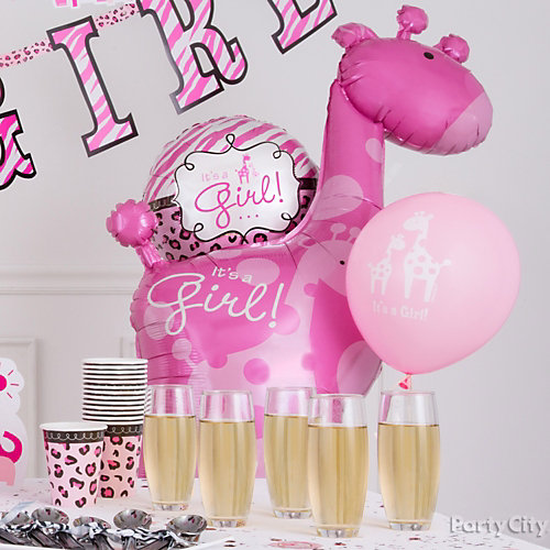 Pink Safari Balloon Decorating Idea