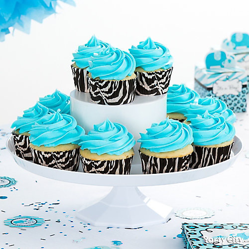 Blue Safari Cupcake Idea