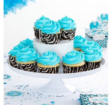Blue Safari Cupcake Idea