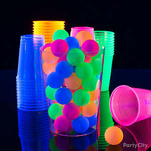 Black Light Beer Pong Party Idea