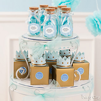 Baby shower ideas baby shower party ideas party city get inspired prince baby shower favor table idea prince baby shower candy display idea negle