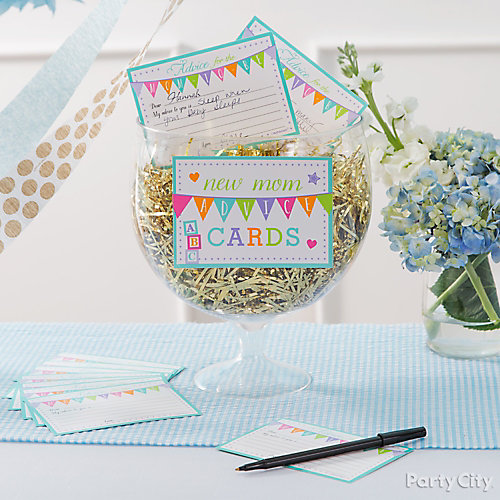 Baby Shower Ideas Party City: Prince Baby Shower Advice Card