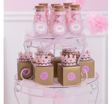 Delightful Princess Baby Shower Candy Display Idea