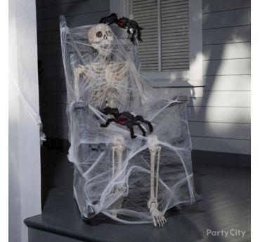 Spider Webbed Skeleton Idea