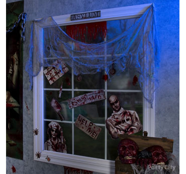 Insane Asylum Window Idea & Asylum Halloween Decorating Ideas - Party City | Party City