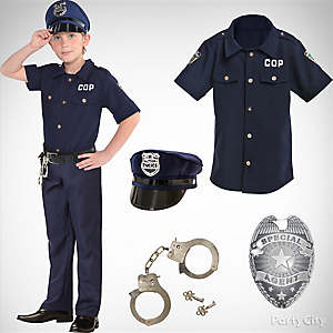 Boys Police Officer Costume Idea