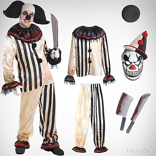 Mens Scary Clown Costume Idea