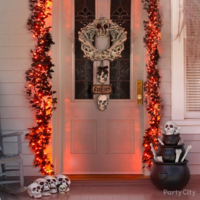 Bone Garland Front Door Idea