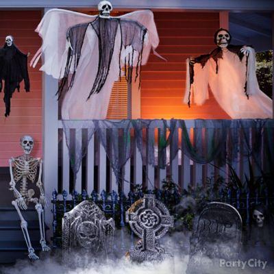 Haunted Draped Gauze Idea
