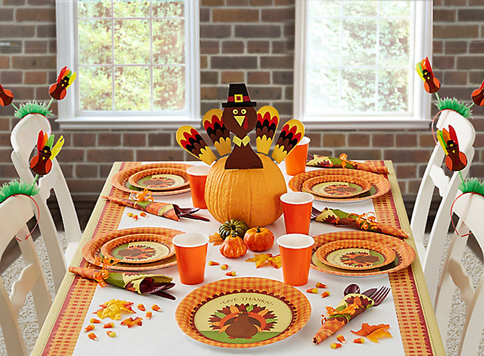 Thanksgiving kids table ideas party city - Thanksgiving dinner table decorations ...