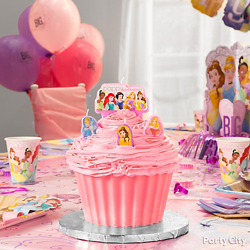 Disney Princess Cupcake With Candles Idea Party City