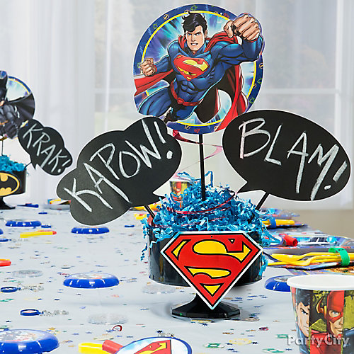 Justice League Smashing Centerpiece DIY