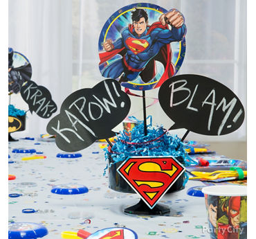 Justice League Smashing Centerpiece DIY