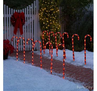 Candy Cane Walkway Idea