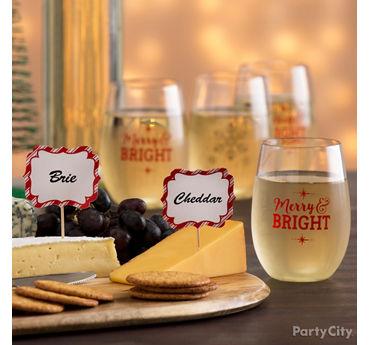 Spreading Cheer Glasses Idea