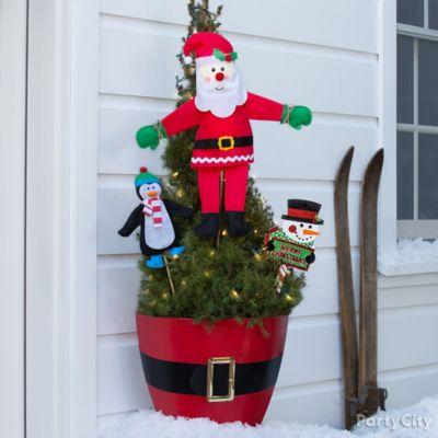 Plant a Santa Stop Idea
