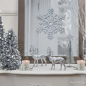 Glistening Snowscape Table Decor