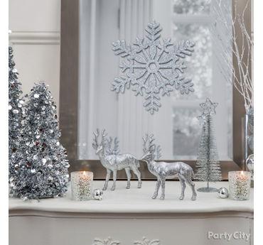 Glistening Snowscape Table Decor