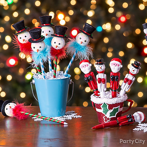 Chummy Snowman Pen Favor Idea