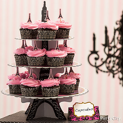 Cupcake Eiffel Tower Party City