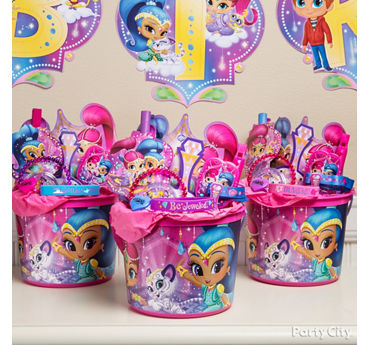 Shimmer and Shine Favor Bucket Idea