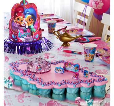 Shimmer and Shine Pull Apart Cupcake Cake Idea