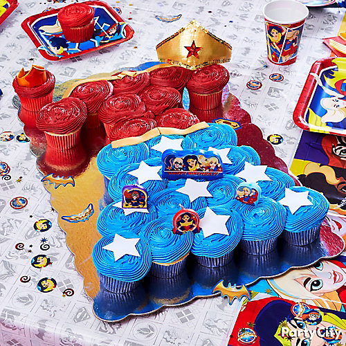 Superheroes Cupcake Cake Ideas