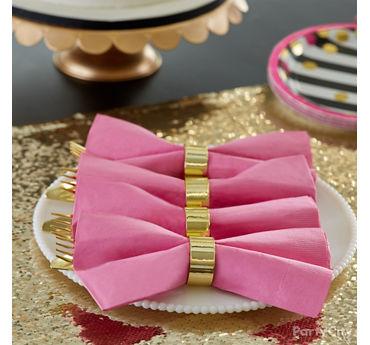 Bowtie Napkins Cutlery Idea