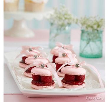 Fresh Raspberry Macaron Bites Idea