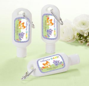 Woodland Personalized Baby Shower Sunscreen Favors (Printed Label)