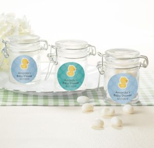 Bubble Bath Personalized Baby Shower Small Glass Jars (Printed Label)