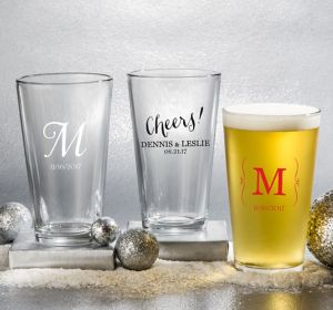Personalized Pint Glasses <br>(Printed Glass)