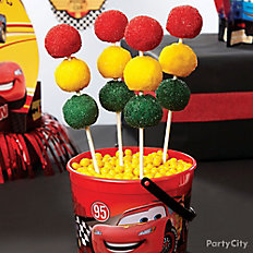 Cars Stoplight Doughnut Pops