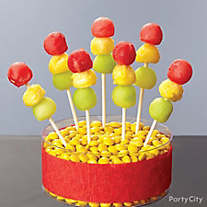Cars Stoplight Fruit Kabobs