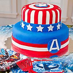 Captain America Fondant Cake