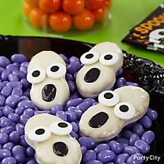 Friendly Candy Dipped Ghost Cookies
