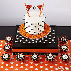 Modern Halloween Letter Cupcakes