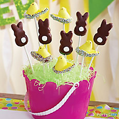 Candy-Dipped Cottontail Peeps Pops
