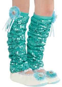 Child Elsa Leg Warmers - Frozen