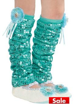 Child Elsa Leg Warmers - Frozen