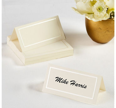 Ivory Pearlized Place Cards 50ct