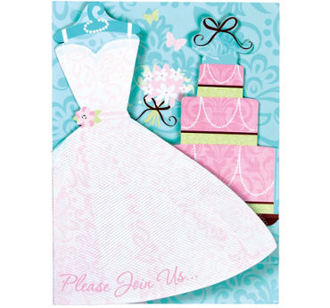 Blushing Bride Jumbo Bridal Shower Invitations 8ct