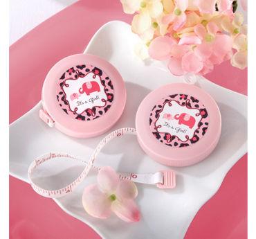 Pink Safari Baby Shower Measuring Tape