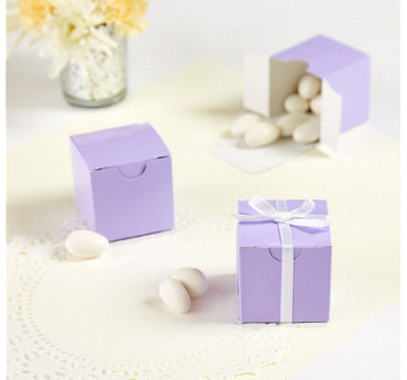 Lavender Square Favor Boxes
