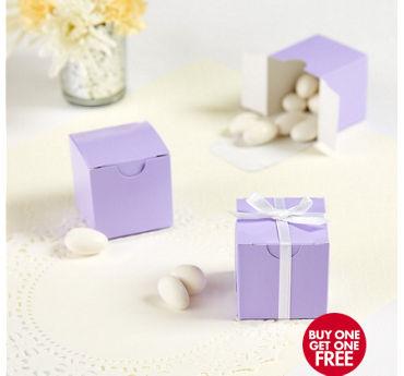 Lavender Square Favor Boxes