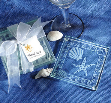 Shell & Starfish Glass Coaster