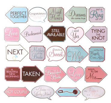 Bridal Shower Photo Signs 12ct